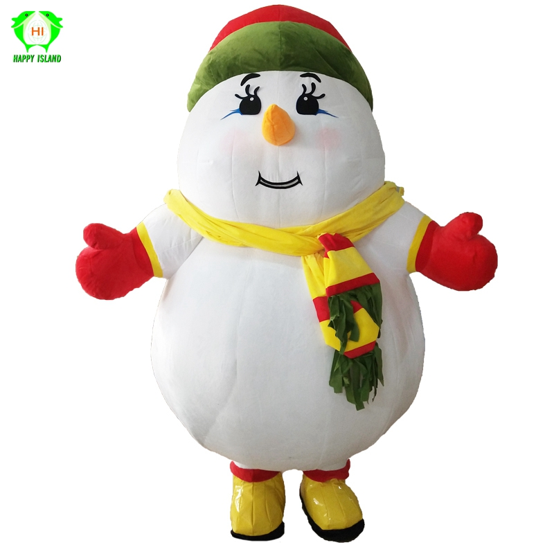 Christmas Snowman Inflatable Mascot Costumes Cartoon Santa Party Cosplay Costume Plush 2M Tall Customized for 1.6M to 1.8M Adult