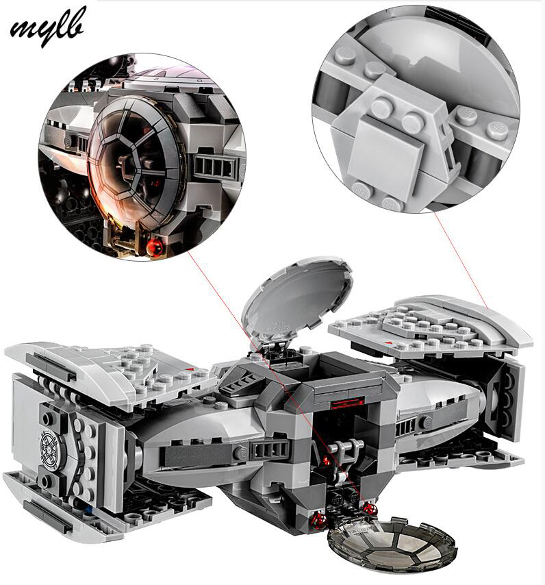 mylb Star wars model building kits compatible with city The Force Awakens TIE Advanced Prototype fighter blocks star wars 10373 force awakens tie advanced prototype building blocks toys for children gifts block compatible legoingly 75082