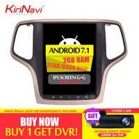 KiriNavi 10.4 écran Android 7.1 pour JEEP Grand Cherokee voiture DVD Radio Audio GPS Navigation moniteur multimédia jouer