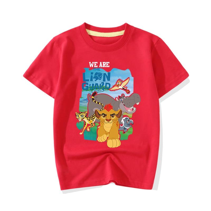T-Shirts Tops Costume Short-Sleeve King-Guard Lion Girls Kids Big Boy Children Cartoon