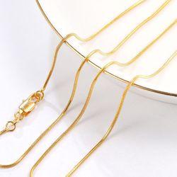 MxGxFam-chaînes serpent assorties, 16/18/20/22/24/26/28/30 pouces, couleur or pur 24 k, pour pendentifs assortis