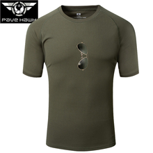 Summer Short-Sleeve Camouflage T-shirt Men Quick Dry Army Tactical Combat T Shirt Cool Military Camping Hiking Hunting T-Shirts