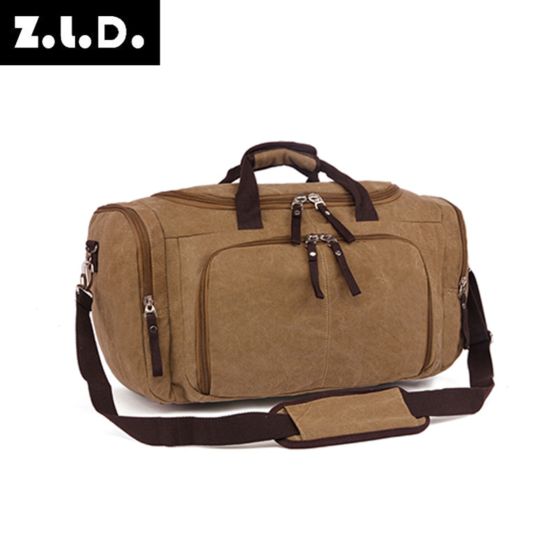 fba373a39a9 Vintage Canvas Large Capacity Simple Men Travel Bags Women Luggage Travel  Bags Travel Duffle Bag maletas