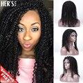 Естественная человеческая волосы парик Glueless парики фронта человеческих волос парики для чернокожих женщин, Странный вьющиеся человеческих волос полный парики
