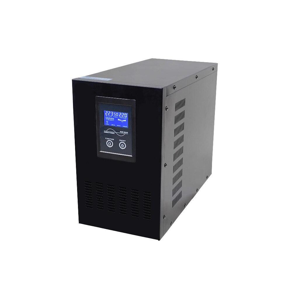 Display LCD 4KVA 3200 w DC24V PER AC220V Bassa Frequenza Onda Sinusoidale Pura UPS Line interactive con funzione di ricarica della batteria