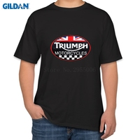 Summer Style Men T Shirts Design Clothing Great Britain Triumph Motorcycle 4xl Men T Shirts Crew