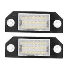 2 шт. 12 В 1,44 Вт 24 светодио дный бусинами номерных знаков светодио дный свет лампы для Ford C-MAX 2003-2010 фокус MK2 2003-2008 автомобилей Стайлинг Новый