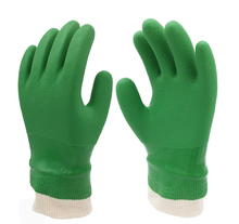 Free shipping High quality color green go fishing gloves chemical /corrosion resistant PVC safety working protecting gloves 50cm high quality safety gloves working white black waterproof work gloves acid and alkali oil resistant safety gloves working