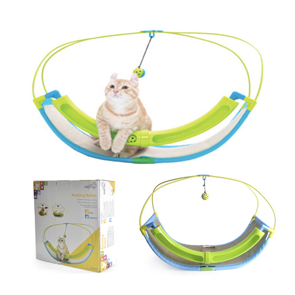 Funny Luxury 2 In 1 Cat Toy Pet Exercise Cradle Cattie Bed Sofa With Ball Toys Hammock Toy for Cat Kitten Hanging Swing in Cat Toys from Home Garden