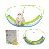 Funny Luxury 2 In 1 Cat Toy Pet Exercise Cradle Cattie Bed Sofa With Ball Toys Hammock Toy for Cat Kitten Hanging Swing
