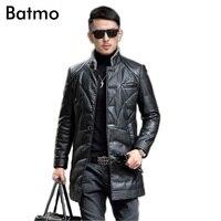 Batmo 2017 Мужская мода зима pu кожаные пальто Тренч Одежда длинное пальто мужская одежда Размер M, L, XL, XXL, XXXL, XXXXL