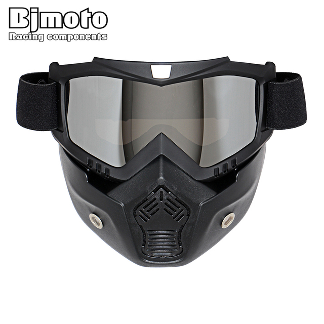 Hot Sales Modular Mask Detachable Goggles And Mouth Filter Perfect for Open Face Motorcycle Half Helmet or Vintage Helmets