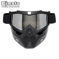 Hot Sales Modulaire Masker Afneembare Bril En Mond Filter Perfect voor Open Gezicht Motorfiets Half Helm of Vintage Helmen