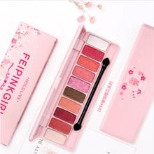 HOLD LIVE brand Peach Matte Eyeshadow Palette For Red Shadows Korean Makeup Brand Pink Cherry Blossom Glitter Eyes Shadows Palet silver shadows