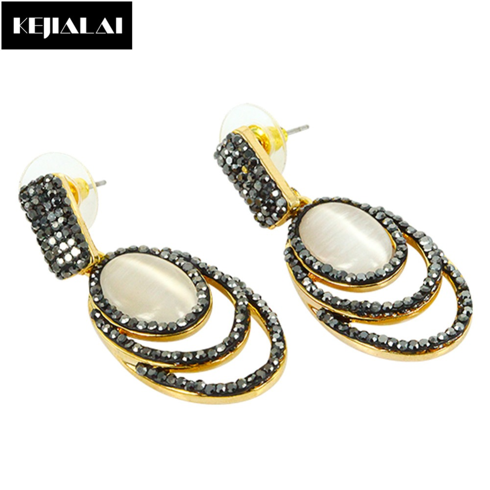 Women Vintage Natural Shell Pendant Dangle Earrings Freshwater Pearl Charm Paved with Circle Zirconia Rhinestone Girls Jewelry