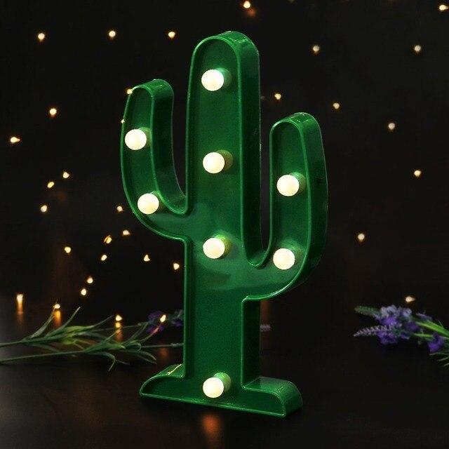 aliexpress koop groene cactus led marquee borden met