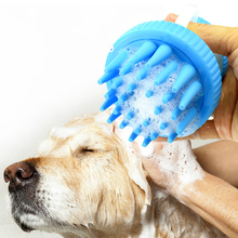 Pet Washer Dog Cat Brush Cleaner Puppy Wash Tools Soft Gentle Silicone Bristles Quickly Cleaing with Built-in Shampoo