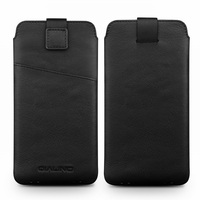QIALINO Genuine Leather Case Felt Pouch With Card Holder For IPhone 6 6s Mobile Cover For