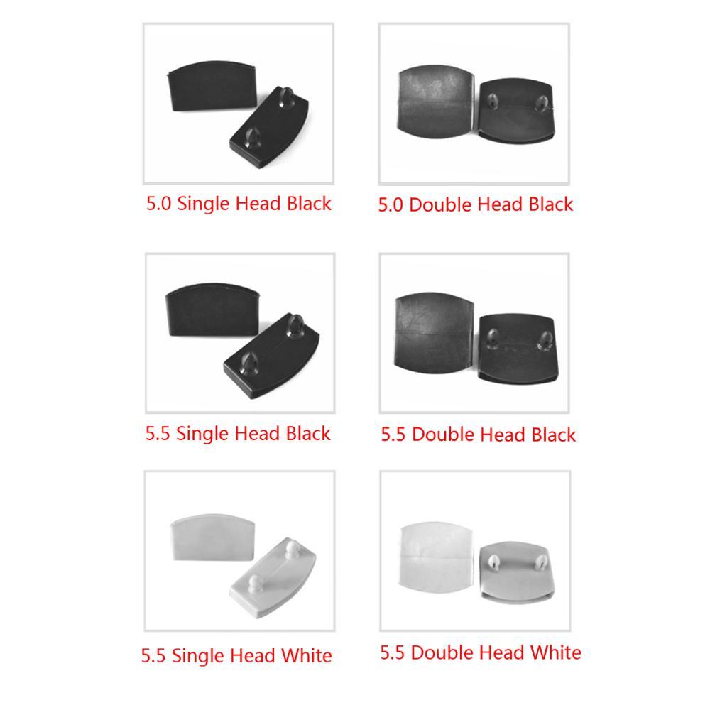 50 pieces en plastique ou blanc lit embouts de remplacement pour tenir et sommier en lattes de bois noir