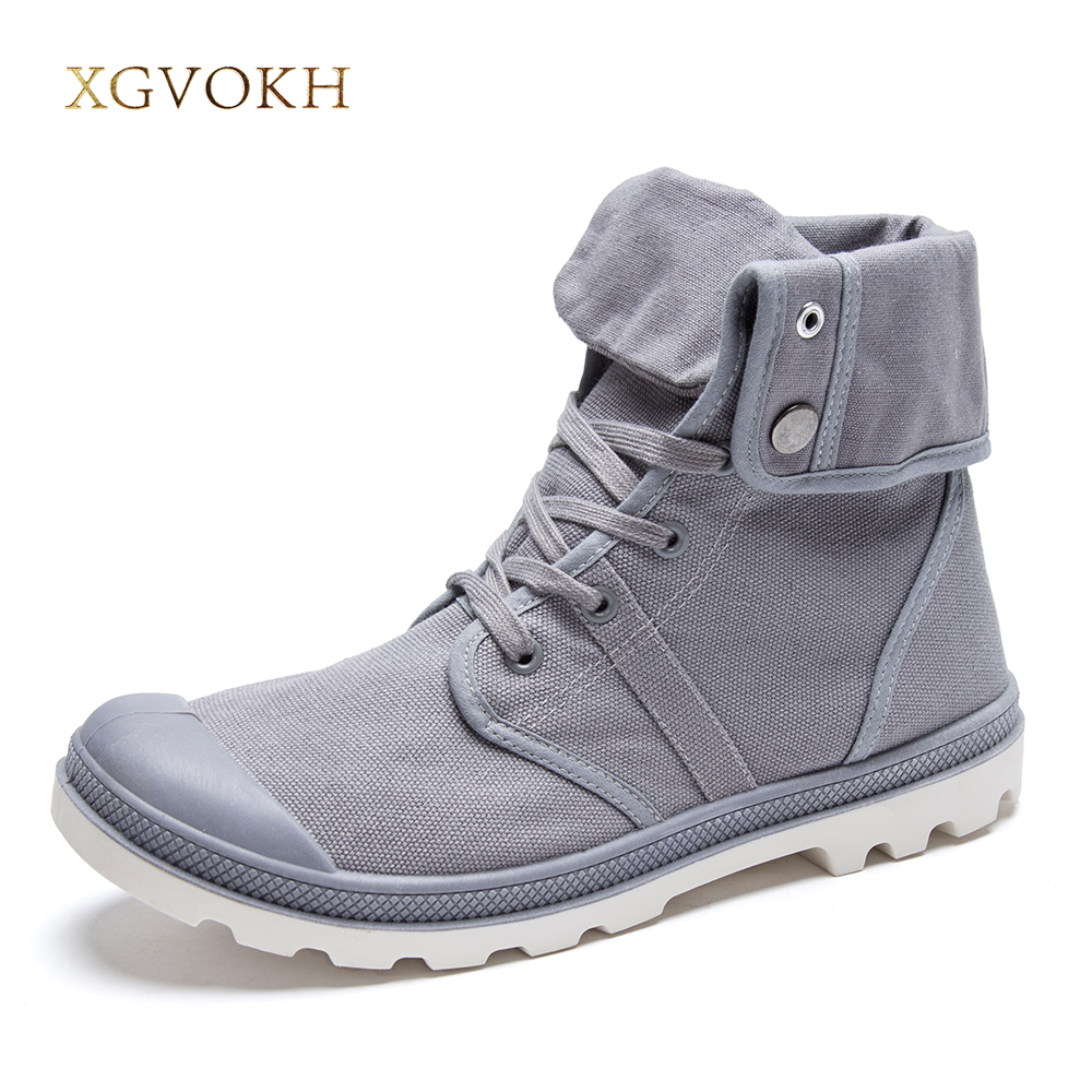 New 4 colors men shoes style fashion high top military ankle boots comfortable canvas shoe fashion