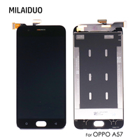 High Quality For OPPO A57 LCD Display With 100% Tested Touch Screen Digitizer Panel Replacement Parts For OPPO A57 5.2 Inch