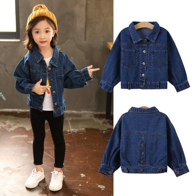 59374fb1b491 blue denim jackets girls long sleeve jeans coats clothing children ...