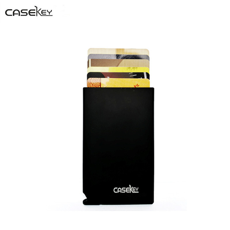 CaseKey Business Men Bank Credit Card Package ID Card Holder Business Card Case Box Aluminum Alloy Business Quality Travel Purse commercial bank credit to agriculture in india