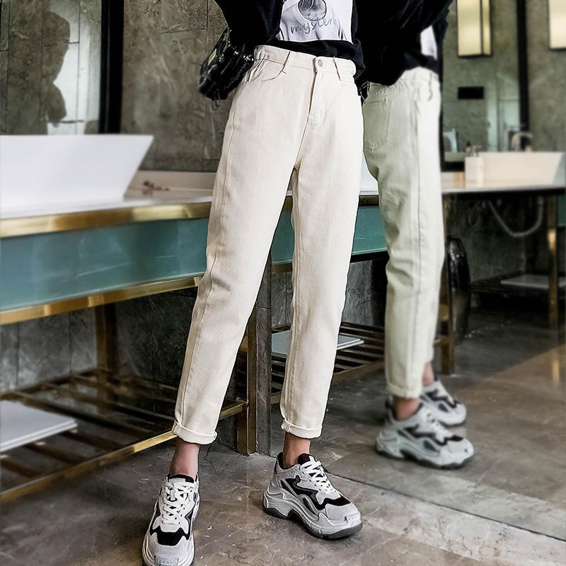 GCAROL 19 Spring Fall Elastic Waist Retro Old Pants Ankle Length First Love Loose Vintage Straight Pants Plus Size 25-32 7