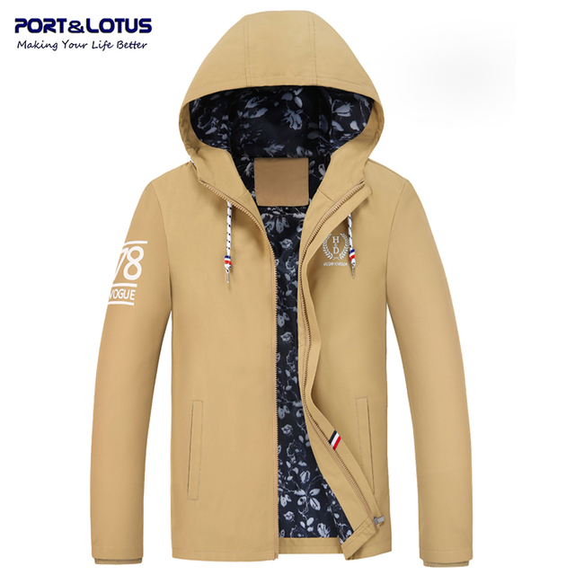 Port&Lotus Men Hooded Jacket Brand Clothing Winter Jackets Mens Coats  Clothing  201(HD201) wholesale