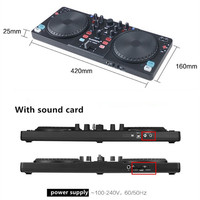 With sound card DJ controller CD players DJ disc player digital One machine can Sound mixing DJing monitor Shouting microphone