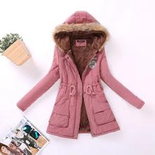 2017 New Parkas Female Overcoat 15 Colors Winter Coat Thickening Cotton Jacket Hooded Womens Outwear Parkas For Women XXXL