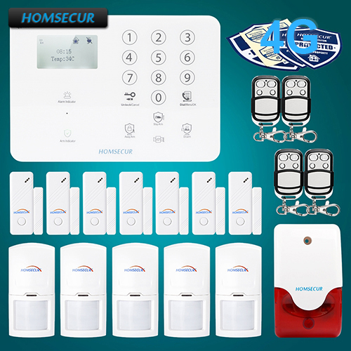 HOMSECUR Wireless 4G GSM Home Security font b Alarm b font System For Elderly Daily Life