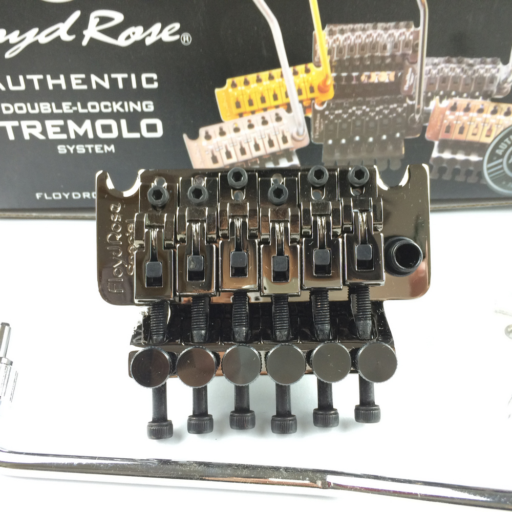 Floyd Rose Special Cosmo Black Electric Guitar Locking Tremolo System Bridge Black Nickel Made In Korea ( Without packaging ) floyd rose 3000 series electric guitar double locking tremolo system bridge frt03000 black without packaging