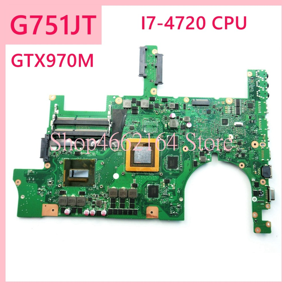 G751JT I7-4720CPU GTX970M Laptop Motherboard For ASUS G751J G751 G751JT G751JY REV2.5 Notebook Mainboard Fully Tested