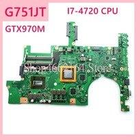 G751JT I7 4720CPU GTX970M Laptop motherboard For ASUS G751J G751 G751JT G751JY REV2.5 Notebook mainboard fully tested Laptop Motherboard     -