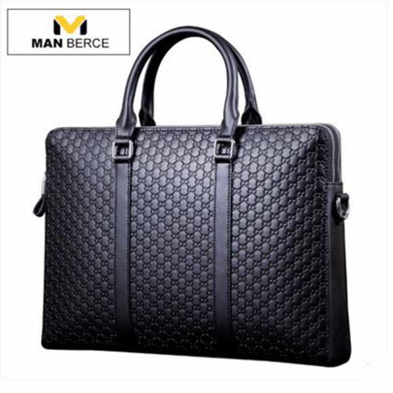 European And American Fashion Black Leather Zipper Man Bag Design Famous Manberce Brand Male Shoulder Messenger Bags