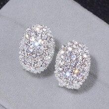 Классический дизайн романтические ювелирные изделия серебряный цвет AAA кубический цирконий камень серьги гвоздики для женщин элегантные свадебные ювелирные изделия WX023