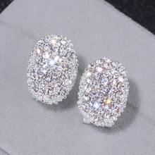Design clássico jóias românticas 2018 cor prata aaa cubic zirconia pedra  brincos do parafuso prisioneiro para as mulheres elegan. ce22256a22