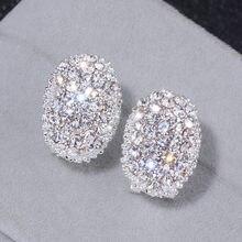 41d04da77f29 Diseño clásico romántico de plata de la joyería 2018 de Color AAA Cubic  Zirconia piedra Stud pendientes para las mujeres elegant.