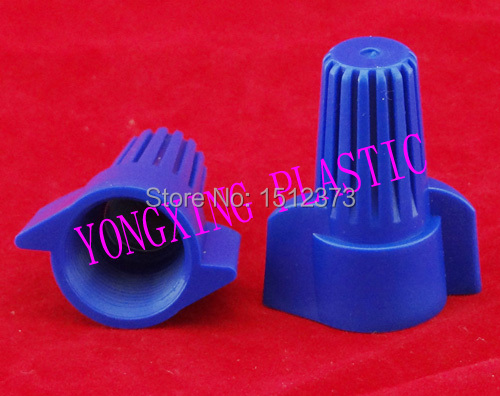 ФОТО 25 Piece nylon wire connector P17  close end connector terminal block 18-8 AWG  blue color