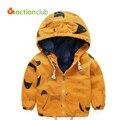 2016 primavera outono meninos jaqueta Outwear casaco de algodão crianças crianças adolescentes moda zíper com capuz roupas KU1016