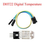 10PCS LOT DHT22 Digital Temperature And Humidity Sensor AM2302 Module PCB With Cable For Arduino