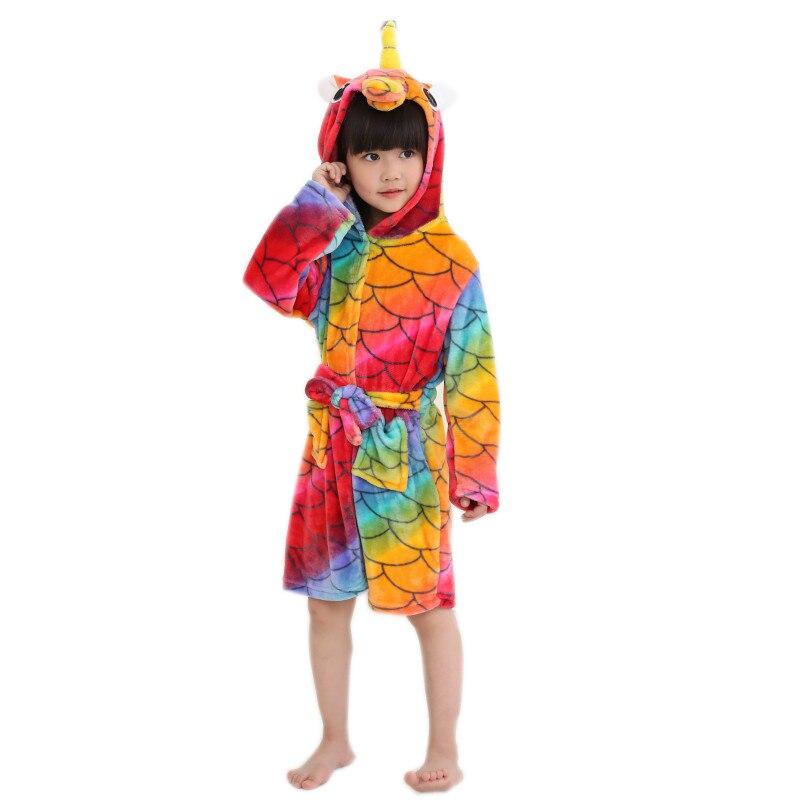 ᗗcenturyestar Enfants Peignoirs De Unicornio Licorne De Bain Robe