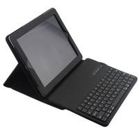 Wireless Bluetooth Keyboard PU Leather Cover Protective Smart Case For Apple IPad 2 IPad 3 Ipad