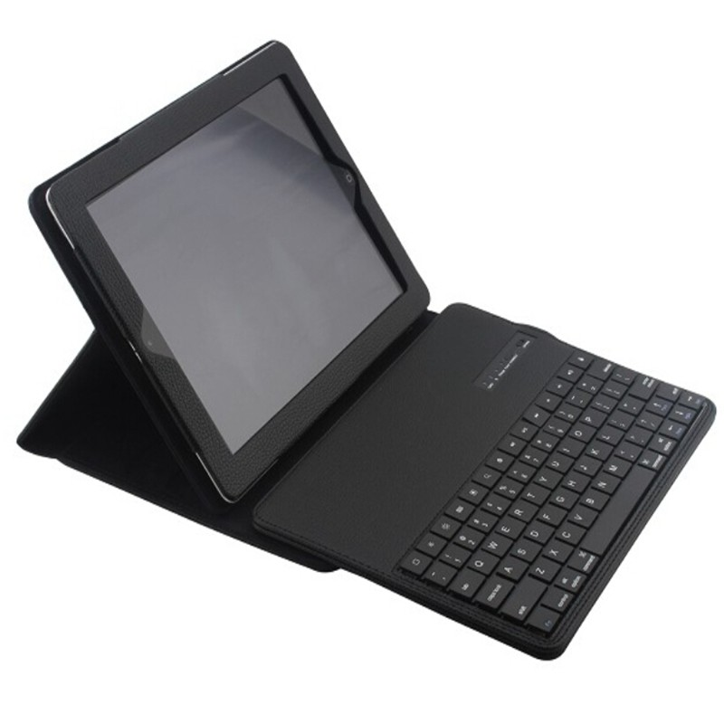 Wireless Bluetooth Keyboard +PU Leather Cover Protective Smart Case For Apple iPad 2 iPad 3 ipad 4 9.7 inch Case + Film +Stylus 7 9 inch universal detachable wireless bluetooth magnetic keyboard with pu leather cover case for apple ipad mini 2 3 4