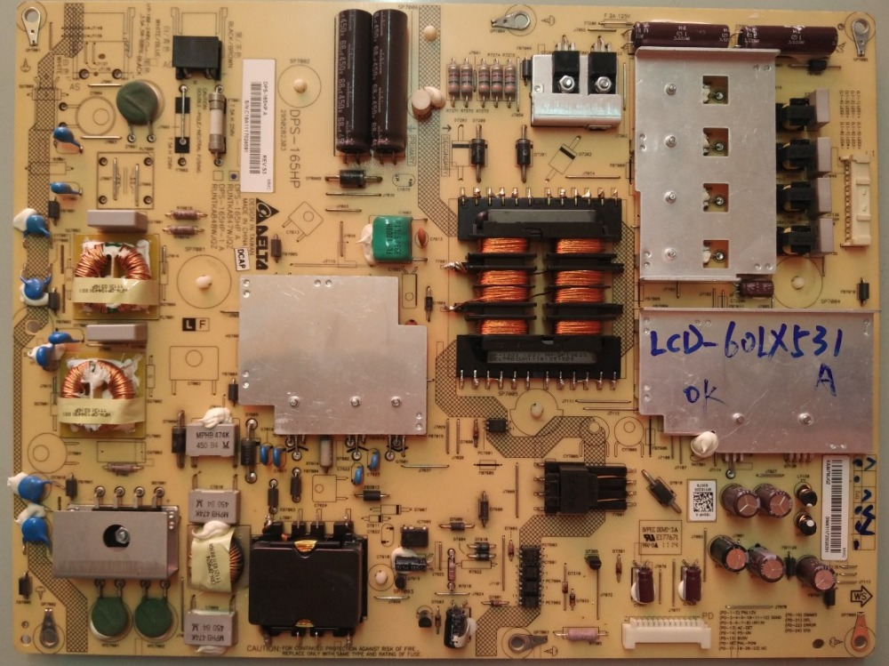 LCD-60LX531A Power supply DPS-165HP A 2950282303 RUNTKA847WJQZ is used original lu32k3a l32g1 supply dps 151ap a 2950244505 used disassemble