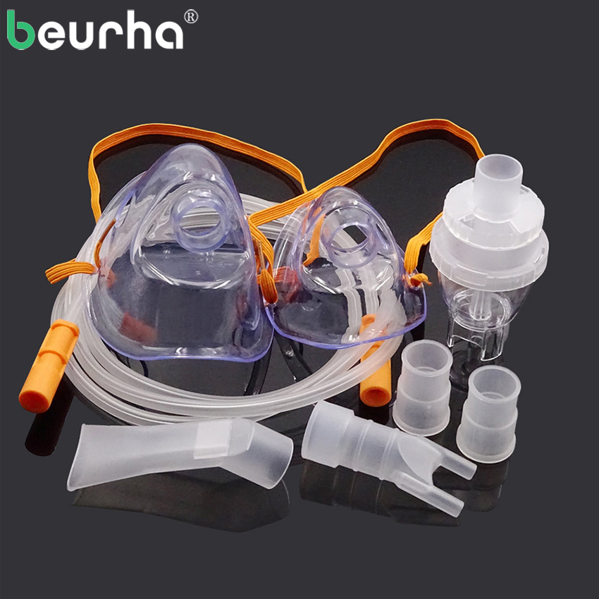 Beurha Family Health Care Inhale Nebulizer Medicine Tank Cup Household Compressor Nebulizer Parts Inhaler Set Accessories