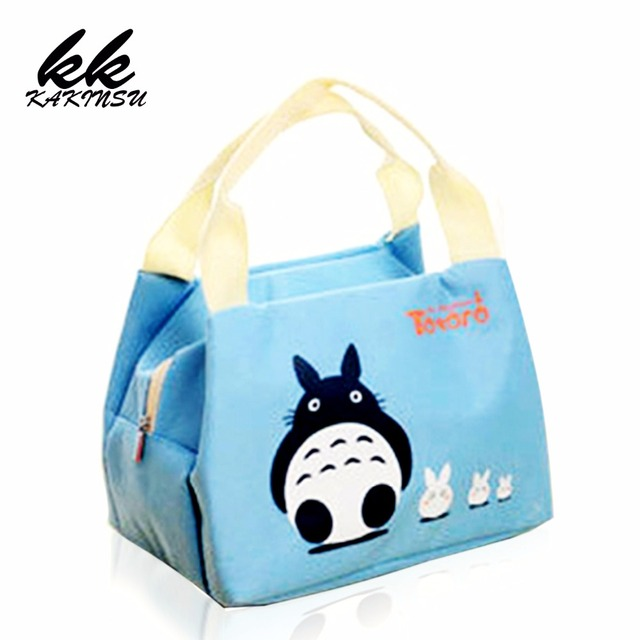 KAKINSU Fashion Women Insulated Lunch Bag Cotton Blue Portable Thermal  Lunch Box for Kids Food Cooler Bags Tote Bolsas W8101 324aee23e