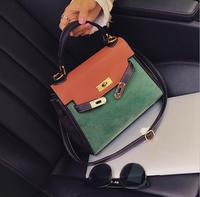 Business Classic Lock Brief Contrast Color Handbag Totes Women Shoulder Bag 2044 Fashion Woman Crossbody Bag
