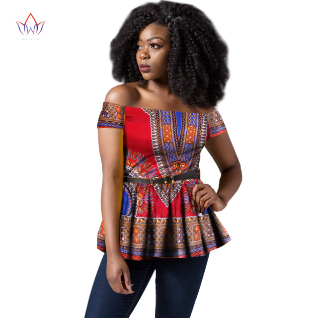 6c34d90fae3 2017 BRW Africa Style Women Modern Fashions Womens Tops Dashiki African  Print Tops Shirt Plus Size M-6XL Women Clothing WY1443